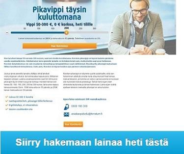 Ferratum ilmainen pikalaina heti netistä ilman vakuuksia ja takaajia 300€ asti.