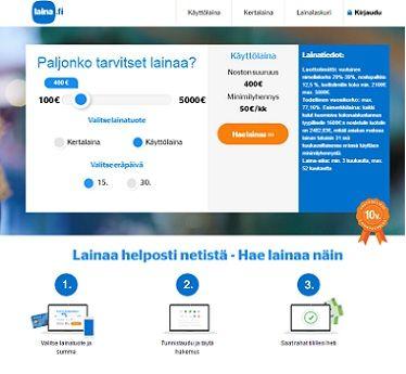Laina.fi käyttölainaa saat nyt jopa 5000 euron luottorajalla