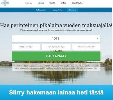 Lainasto.fi pikalaina on perinteinen ja sen saa pitkällä maksuajalla.