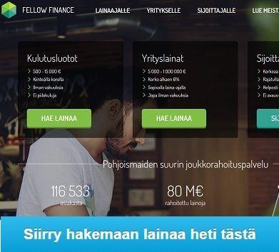 Fellow Finance on Pohjoismaiden kärkijoukkorahoituspalvelu