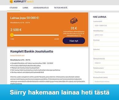 Komplett Bank pankkilaina on uusi edullinen laina Suomessa!