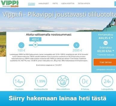 Vippi.fi nyt sinulla on mahdollisuus saada pikalainaa joustavammin kuin koskaan.