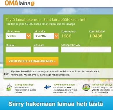 Omalaina.fi on hurjan edullinen ja lainapäätös on pikalainan vauhdilla pöytälaatikossa.