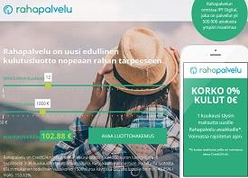 Rahapalvelun joustoluottoon saa huippukorkean 4000 euron luottorajan. Uudete asiakkaat saavat myös ensimmäisen kuukauden täysin kuluttomana.